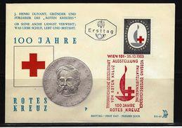 ÖSTERREICH - FDC Mi-Nr. 1135 - 100 Jahre Internationales Rotes Kreuz Stempel WIEN (11) - FDC