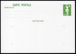 B-007B- Carte Postale Type Marianne De Briat, 2,10 Vert, N° 2622-CP1, Neuve. - Postal Stamped Stationery
