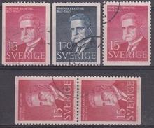 SUECIA 1960 Nº 456/57 + 456a + 456b USADO - Sweden