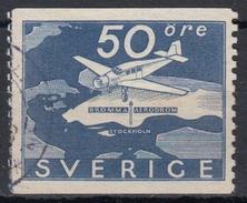 SUECIA 1936 Nº AEREO 6 USADO