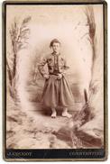 Photo  Format Cabinet - Tirailleur Algérien En Grand Habit - 1880 -  Edmond Maillard De Beaucourt ( 90 ) - Guerre, Militaire