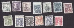 Czechoslovakia, Scott #645-657, Used, Workers Of Czechoslovakia, Issued 1954