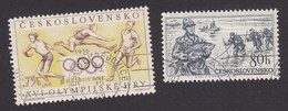 Czechoslovakia, Scott #749, 768, Used, Olympics, Fishing, Issued 1956