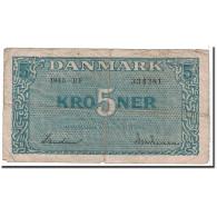 Danemark, 5 Kroner, 1945, KM:35b, TB - Danemark