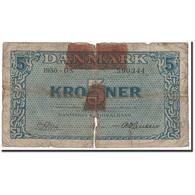 Danemark, 5 Kroner, 1950, KM:35g, B - Danemark