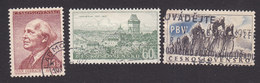 Czechoslovakia, Scott #781, 788, 796, Used, Olbracht, Cathedral, Cyclists, Issued 1957