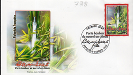 Polynésie 0738 Bambou , Porte Bonheur , Nouvel An Chinois