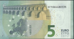 """€ 5 ITALY  SF S006 A1 Charge """"06""""  DRAGHI  UNC - 5 Euro"""