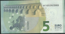 """€ 5 ITALY  SF S006 A1 Charge """"05""""  DRAGHI  UNC - 5 Euro"""