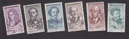 Czechoslovakia, Scott #801-806, Used, Musicians, Issued 1957
