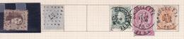 Belgique COB 14, 18, 30, 46(x2), 28 Oblitérés Brugelette