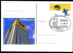 BUND PSo69 Sonderpostkarte EXPO Hannover Sost. 2000 - 2000 – Hanovre (Allemagne)