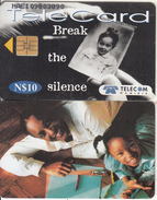 NAMIBIA(chip) - Break The Silence/Teacher & Child, Used - Namibia