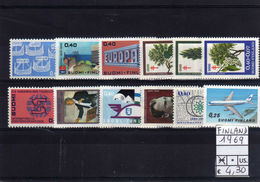 1969 FINLAND FINLANDIA COMPLETE YEAR MINT MNH**