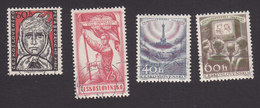 Czechoslovakia, Scott #823-826, Used, Marycka Magdonova, Trade Union, Television, Issued 1957
