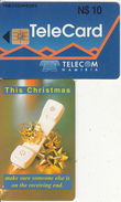 NAMIBIA(chip) - Christmas Card, Used - Namibia
