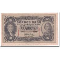 Norvège, 10 Kroner, 1943, KM:8c, SUP - Norvegia