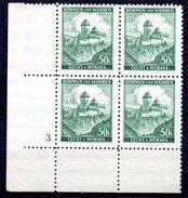 XP3039 - BOEMIA MORAVIA 1939 , Yv N. 26 Quartina  ***  KARLUV - Boemia E Moravia