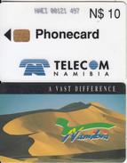 NAMIBIA - Dunes N$10, Chip Siemens 30, Used - Namibia
