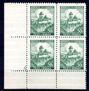 XP3042 - BOEMIA MORAVIA 1939 , Yv N. 26 Quartina  ***  KARLUV - Boemia E Moravia