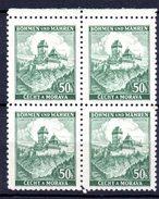 XP3043 - BOEMIA MORAVIA 1939 , Yv N. 26 Quartina  ***  KARLUV - Bohême & Moravie