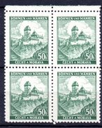 XP3043 - BOEMIA MORAVIA 1939 , Yv N. 26 Quartina  ***  KARLUV - Boemia E Moravia