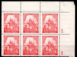 XP3046 - BOEMIA MORAVIA 1940 , Yv N. 50 Quartina  *** - Boemia E Moravia