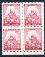 XP3047 - BOEMIA MORAVIA 1939 , Yv N. 28 Quartina  *** - Bohême & Moravie