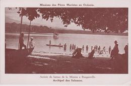 ARCHIPEL DES SALOMONS . Arrivée Du Bateau De La Mission à Bougainville (Mission Des Pères Maristes En Océanie) - Solomon Islands