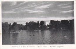 Argentina Buenos Aires Atardecer en el lago de Palermo