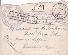 Belgique - Poste Militaire - Lettre De Gand à Knokke En Exprès - Très Beau Cachet Gouvernement Militaire