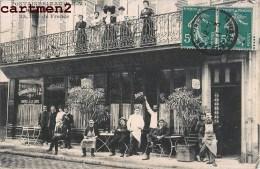 RARE CPA : FONTAINEBLEAU HOTEL MODERNE 23 RUE DE FRANCE DEVANTURE ANIMEE 77 - Fontainebleau