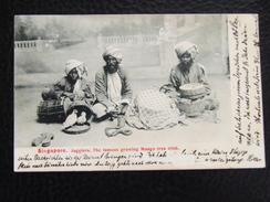 Singapore 6 Jugglers Mango Tree Trick 1907 With Stamp - Singapore