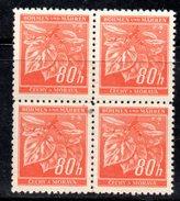 XP3057 - BOEMIA MORAVIA ,   80 H.  Quartina Integra  *** - Boemia E Moravia