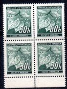 XP3058 - BOEMIA MORAVIA ,   50 H.  Quartina Integra  *** - Boemia E Moravia