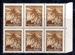 XP3059 - BOEMIA MORAVIA ,   30 H.  Blocco Integro  *** - Boemia E Moravia