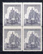 XP3062 - REICH BOEMIA MORAVIA 1939,   2,50 K.  Quartina Integra  *** - Besetzungen 1938-45