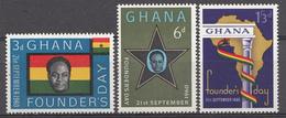 Ghana 1960 Mi.nr: 88-90 Tag Der Gründers Der Union  Neuf Sans Charniere /MNH / Postfris - Ghana (1957-...)