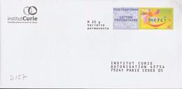 D157 - Entier / Stationery / PSE - PAP Réponse Merci - Institut Curie - Agrément 13P081 - Entiers Postaux