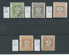 Kaapverdische Eilanden     Y /T   Taxe   21  Tot  25    (O) - Cap Vert