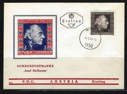 ÖSTERREICH - FDC Mi-Nr. 1205 - 10. Todestag Von Josef Hoffmann - Stempel WIEN (10) - FDC