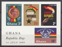 Ghana 1960 Mi.nr: Block 2 Feier Der Republik Und Verfassung  Neuf Sans Charniere /MNH / Postfris - Ghana (1957-...)