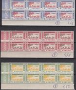 Sénégal 1942 - PA N°27**-28**-29** - 3 Blocs De 8 Timbres - Luxe - Senegal (1887-1944)