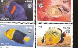 NEVIS   1088-1 MINT NEVER HINGED SET OF STAMPS OF FISH-MARINE LIFE - Fische