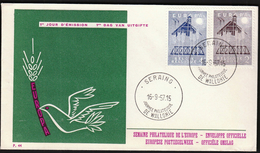 Belgium 1957 / Europa CEPT / FDC - 1957