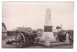 02 Villers St Saint Christophe Monument Aux Morts à Ses Enfants Morts Pour La France , Cpa Carte Photo Canon Artillerie - France