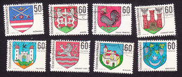 Czechoslovakia, Scott #1654, 1743-1747, 1886, 1888, Used, Arms, Issued 1969-73 - Czechoslovakia