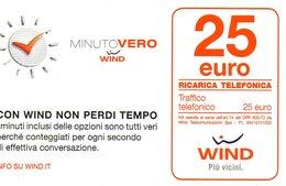 Ref. 6 - Wind . 25€ . Minuto Vero , Validita 31.12.2016 - Schede GSM, Prepagate & Ricariche