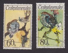 Czechoslovakia, Scott #1852-1853, Used, Birds, Issued 1972 - Czechoslovakia