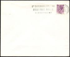ITALIA PESCARA 1971 - 6^ SETTIMANA SPORTIVA DELLE FORZE ARMATE - TARGHETTA MECCANICA - Francobolli